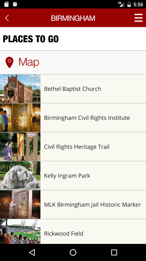 Alabama Civil Rights Trail- screenshot