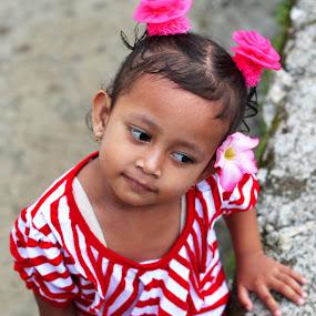 Upi  by Travis Borland - Babies & Children Child Portraits ( girl, red, children, asian )
