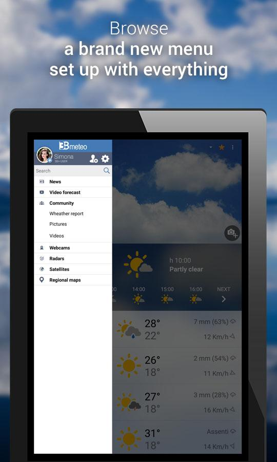 3B Meteo - Weather Forecasts- screenshot