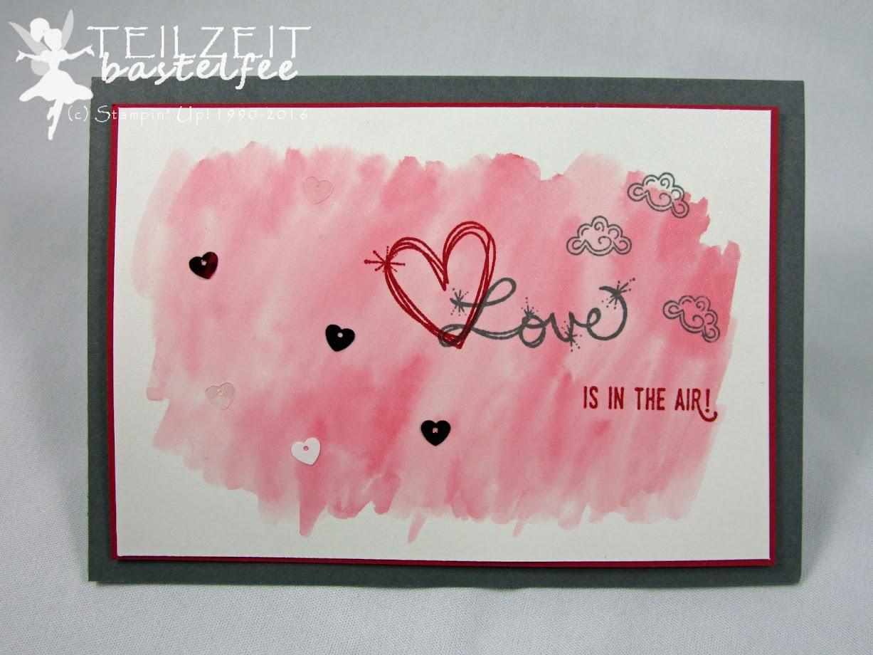 Stampin' Up! – In{k}spire_me #286, Valentine, Valentinstag, Love, Liebe, Watercolor, Pailletten, Love Sparkles, Abgehoben, Lift me Up