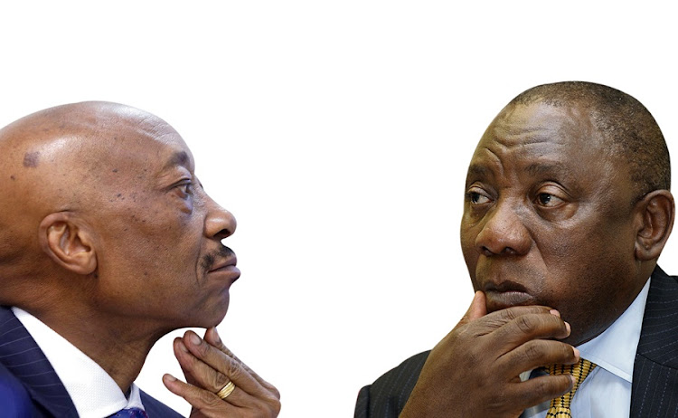 Tom Moyane. and President Cyril Ramaphosa.