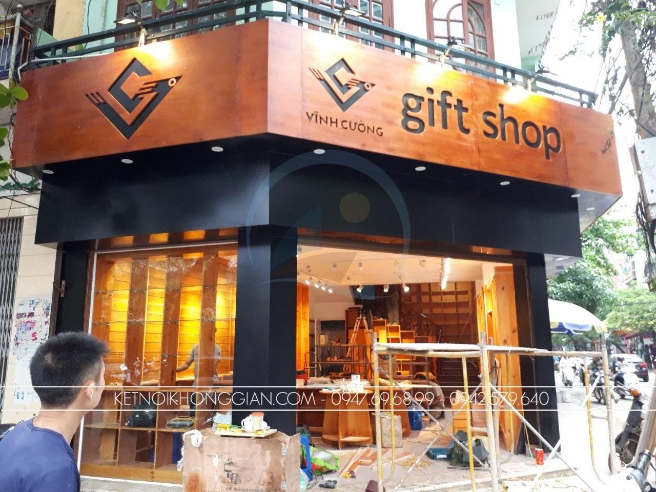 thiết kế thi công shop quà tặng tại Bắc Giang
