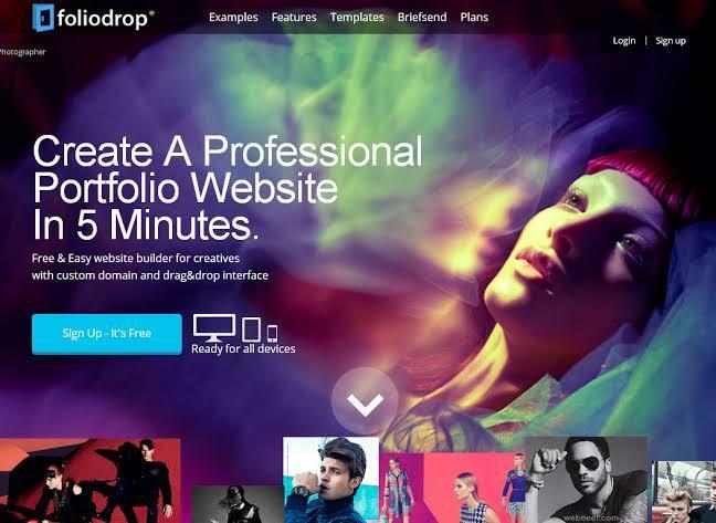 Foliodrop website builder for artists and musicians