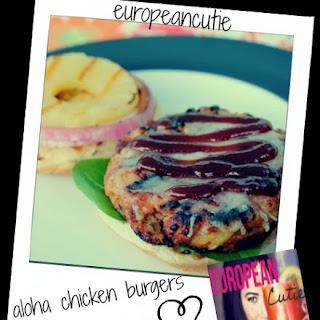 """skinny"" Aloha Chicken Burgers ♥"
