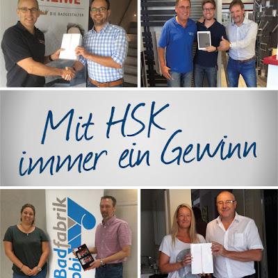 Glückliche Gewinner beim HSK-Gewinnspiel