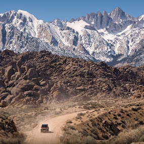 Movie Road by Ruben Parra - Landscapes Mountains & Hills ( alabama hills, mountains, sierra nevada, lone pine, jeep, california, mt whitney,  )