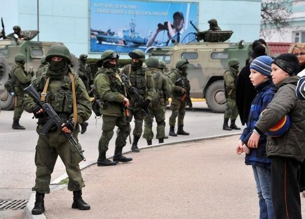 Оккупация Крыма российскими военными, март 2014 года
