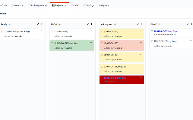Github Projects Schedule