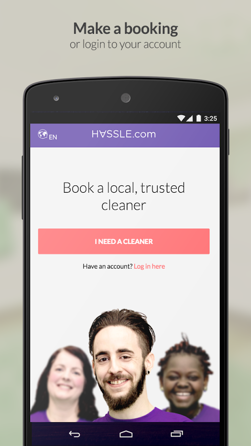 Hassle - Book a local cleaner- screenshot
