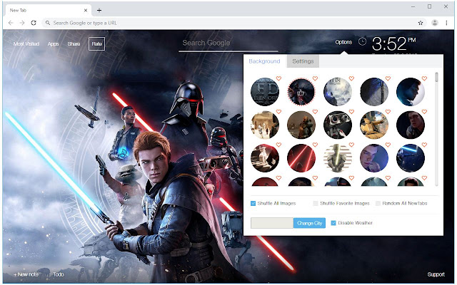 Star Wars Jedi Fallen Order Wallpaper New Tab