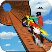 Impossible Bike Stunt Games 2018 3D: Tricky Tracks
