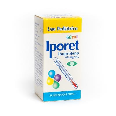 Ibuprofeno Iporet 40 Mg/Ml Suspensión X 60 Ml Oftalmi 40 mg/mL Suspensión x 60 mL