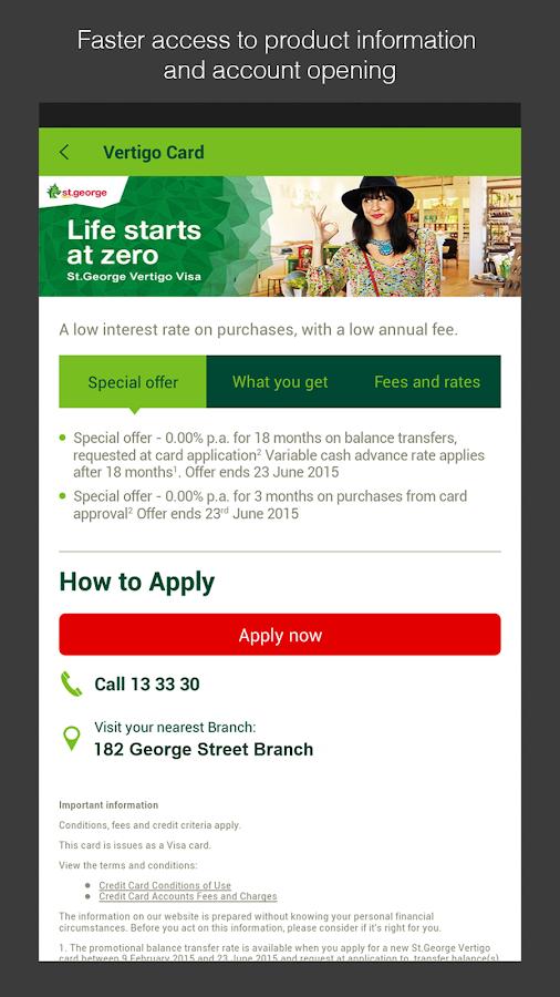 St.George Mobile Banking - screenshot