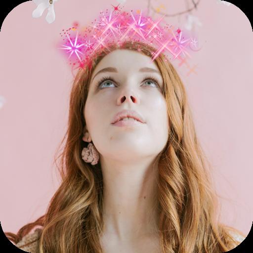 Glitter Crown Photo Editor Icon