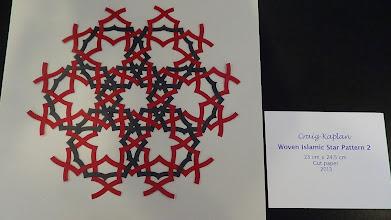 Photo: Woven islamic star pattern, by Craig Kaplan
