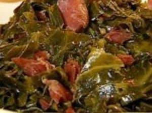 Southern Collard Greens W/ Bacon & Brown Sugar