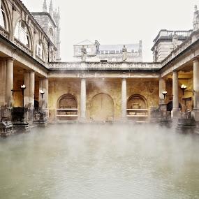 The Roman baths by Cristiana Chivarria - Buildings & Architecture Public & Historical ( baths, thermae, bath, roman )