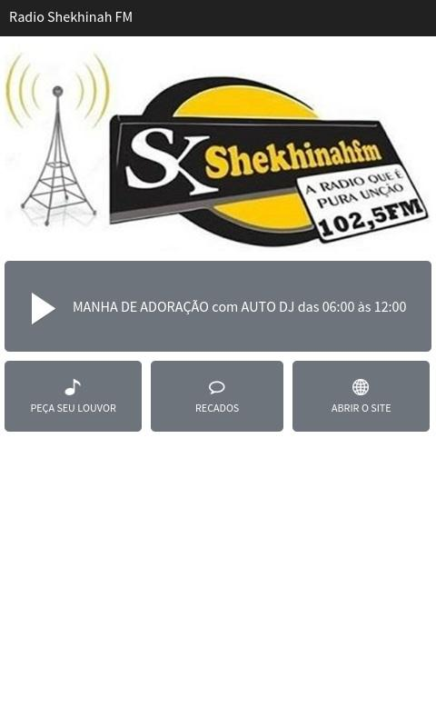 Rádio Shekhinah FM- screenshot
