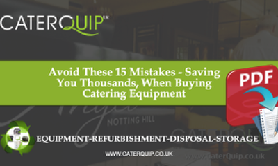 15 Mistakes You Don't Want to Make When Ordering Catering Equipment