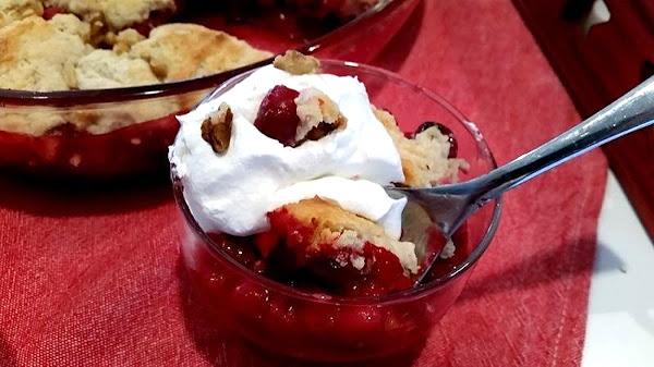 ~ Luscious Cranberry Cobbler ~ Cassies Recipe