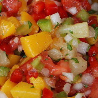 Mango, Peach and Pineapple Salsa