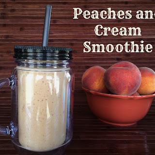 Peaches and Cream Smoothie.