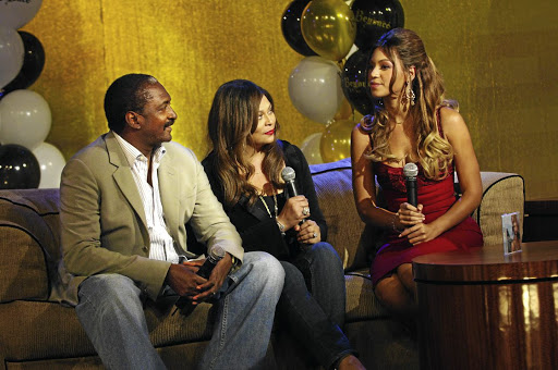 Mathew Knowles admits that even though his daughter Beyonc�, right, is hugely talented, she has benefitted from being light-skinned. With them is his ex-wife Tina Knowles. /John Ricard/FilmMagic