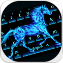 Flaming horse Keyboard icon