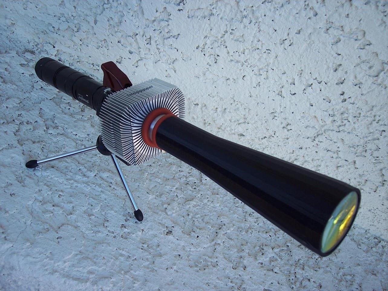 my nubm44 81 450nm 8 watt laser with home made beam expander