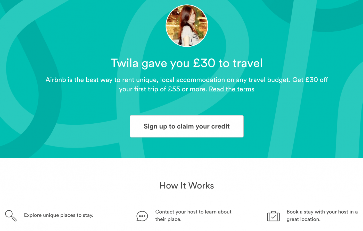 Great landing pages Airbnb