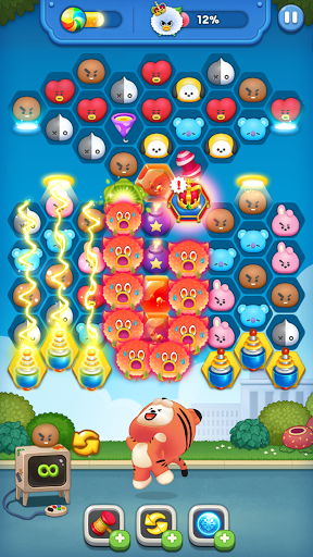 LINE HELLO BT21- Cute bubble-shooting puzzle game! 2.0.1 screenshots 11