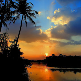 Sunset in River by Rudy Kurniawan - Nature Up Close Water