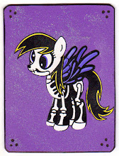 Photo: Mail Art 365 Day 13 card 13e Someone had asked if I would make some more ponies. I do not want to get into making the exact card over and over again but I will make the hell out of some variants