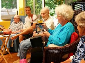 Photo: Lynne's birthday--everyone enjoyed the gifts!