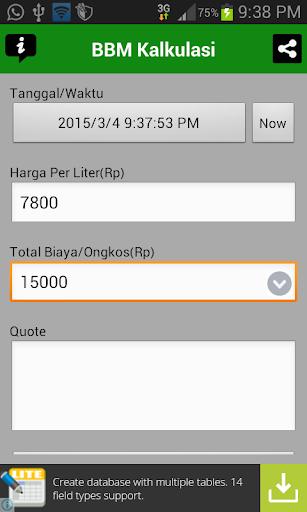 BBM Kalkulasi