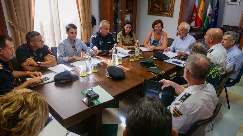 Reunión de la Junta Local de Seguridad.
