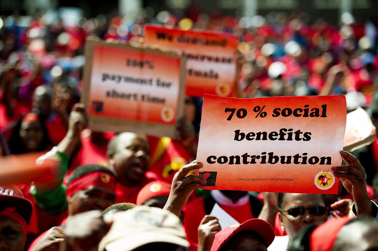 Numsa members on strike. File photo.
