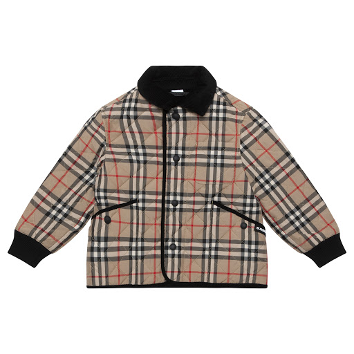 Primary image of Burberry Beige Checked Jacket