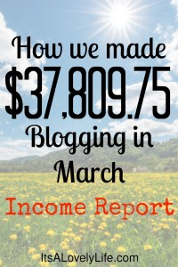 March 2017 Blog Income Report - We Made $37,809.75 It's a Lovely Life! Blog with Heather Delaney Reese
