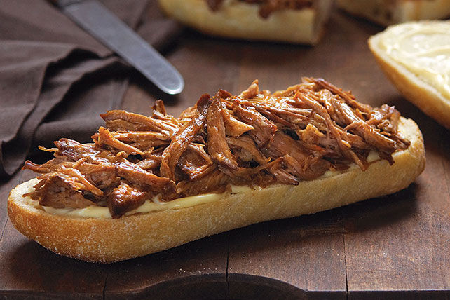 Slow-Cooker Orange-BBQ Pulled Pork Sandwiches Recipe | Yummly