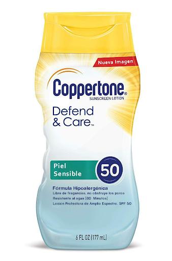 Protector Solar Coppertone Defensa & Cuidado SPF 50 locion 177ml