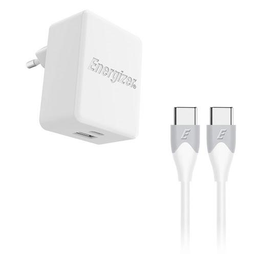 Sạc Energizer 30W PD18W 1x USB-C 1x USB Kèm Cáp USB-C 2.0 - AC11PFEUUCC3 (Trắng)_1