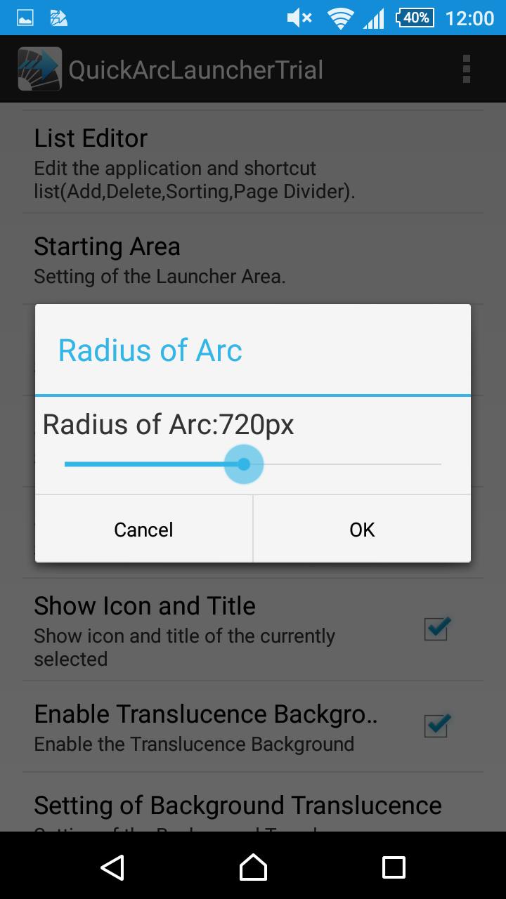 Quick Arc Launcher ( Smart One Swipe Launcher ) Screenshot 4