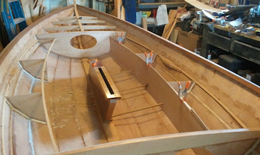 Photo: Test fitting the floatation tank side
