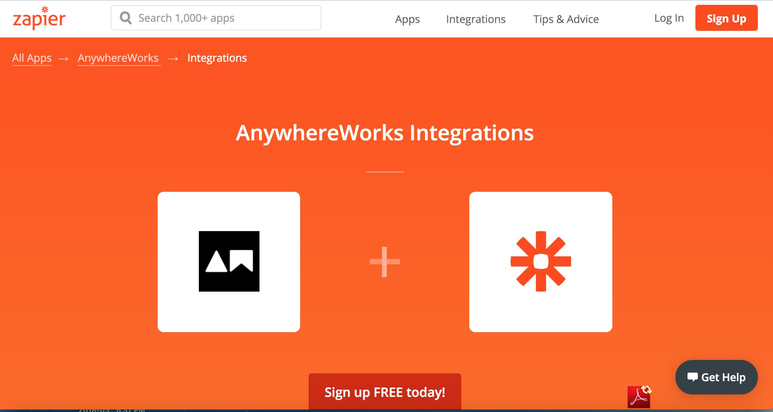 AnywhereWorks - Zapier Integration   Anywhereworks