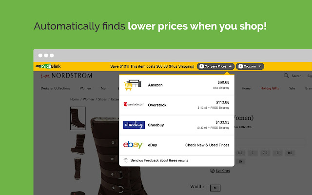 PriceBlink Coupons and Price Comparison