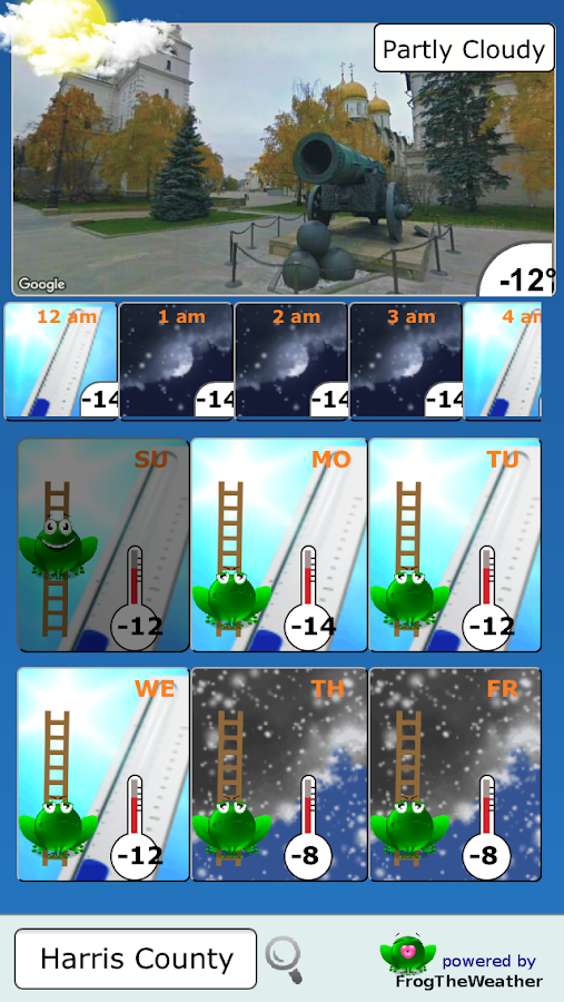 Weather Frog- screenshot