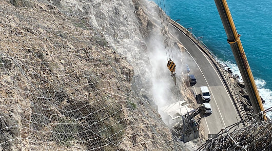 Así marchan las obras de la carretera de El Cañarete