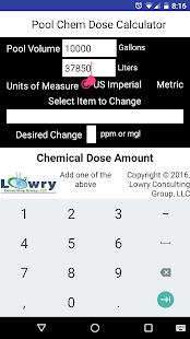 Pool Chem Dose Calculator- screenshot thumbnail