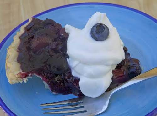 """RB's BluBarb Pie""""This pie is awesome, part of my Mom's recipe and..."""